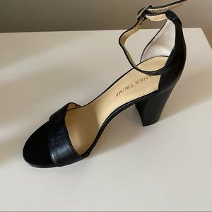 Ivanka Trump Black Ankle Strap Heels
